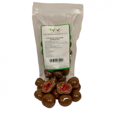Avietės džiovintos šaltyje pieniškame šokolade 250g