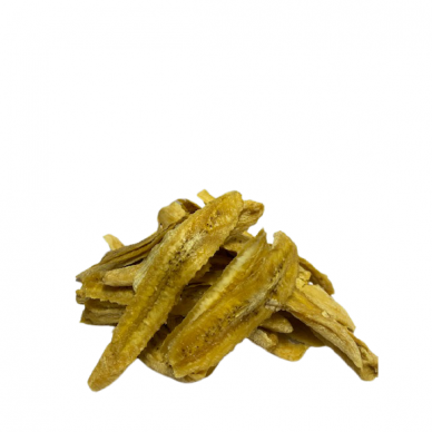 Bananų juostelės džiovintos be cukraus kg