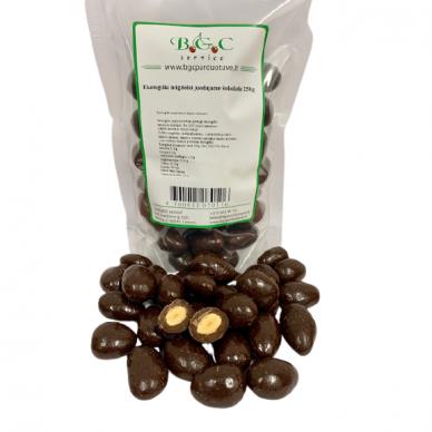 Ekologiški migdolai juodajame šokolade 250g