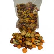 """Kukurūzų krekeriai su riešutais tešloje """"Hokkaido mix"""" CN, 500g"""