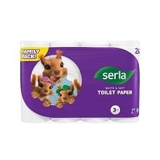 SERLA tualetinis popierius 24rl, 3sl.